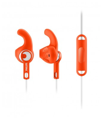 Philips SHQ1305OR/00 In Ear Wired With Mic Earphones Orange