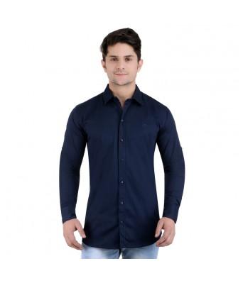 Men Casual Full Sleeves DELTA Navy Blue Casual shirts