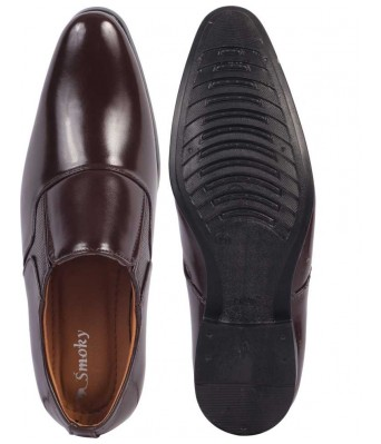 Classic Party Formal Slip On For Men  (Brown)