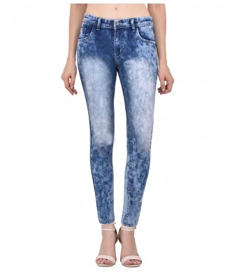 Ansh Fashion Wear Blue & Blue Color Present Women Strechable Denim Jeans Regular Fit Pack of 2