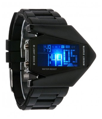 Multi-function Digital LED Military Sports Watch For Men With Aircraft Light