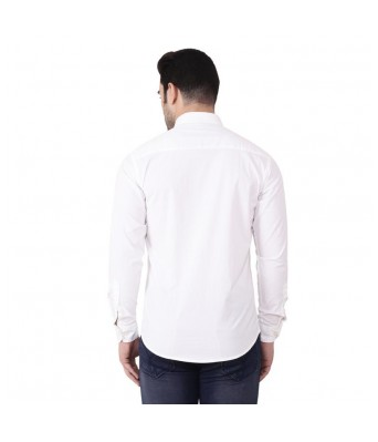 Banana Republic Mens White Plain Shirt