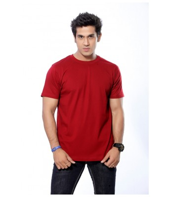 O1M Marron color cotton plain tshirt