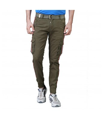 Xee Mens Cargo Green Color Stylish 6 Pockets Jeans for Mens & Boys
