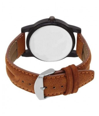 Saving Store ORANGE COLOR WATCH FOR BOYS Leather Analog