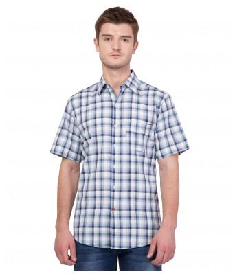 American-Elm Men's Multicolor Half Sleeves Cotton Shirt