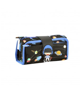 Fancy Strap Pencil Case (Black)