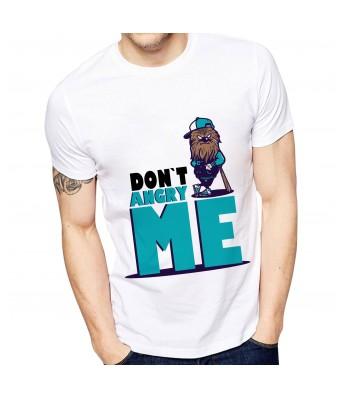Ghantababajika Mens Printed Don`t Angry Me T-Shirt | Quote Printed T-Shirts