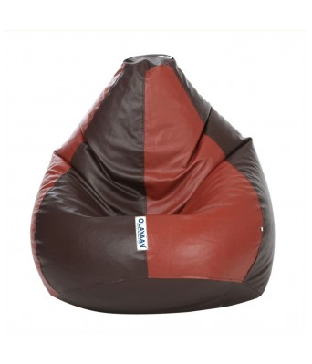 Olayaan Classic Bean Bag Cover Only - Brown & Tan