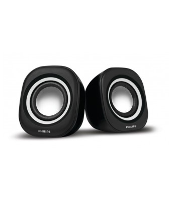 Philips SPA25W/94 Notebook USB Speakers (White)