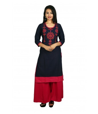 This V Brown kurti With Palazzo Set has beautifully design by latest creation of V Brown.This Kurti Fabric Light in weight and keep you at ease all day. The combination of Solid Palazzo/Plazo with this kurti giving a excellent look.
