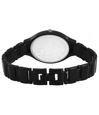 Black Marquis shape movable diamond in case fancy attractive metal belt watch for women Watch - For Women