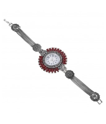 Aradhya Stylish Oxidized Silver Stylish Watch for Women