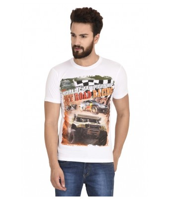 MSG ROAD RACE WHITE MEN'S T SHIRT