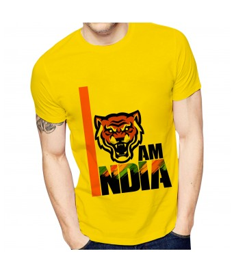 Ghantababajika Mens Printed I AM India T-Shirt | Quote Printed T-Shirts