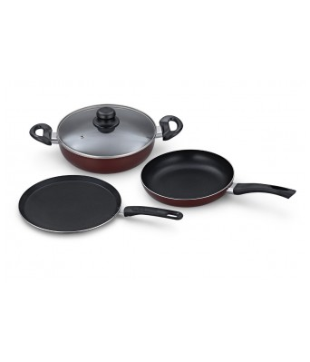 PADMINI NONSTIC 3 PCS COOKWARE SET- LSP-1