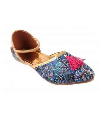 AMAZING TRADERS Synthetic Leather Sandal For Women`s/Girl`s (Blue Color)