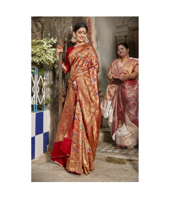 Vallabhi Yellow Color Georgette Casual Wear Printed Saree