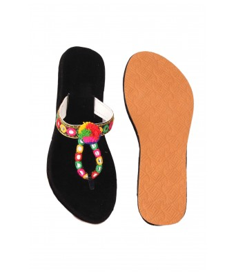 AMAZING TRADERS Velvet Slipper for Womens ,Girls (Black Color)