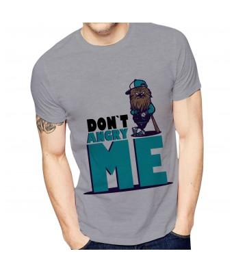 Ghantababajika Mens Printed Don`t Angry Me T-Shirt Quote Printed T-Shirts