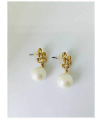 The Square One by Aditi Gautam Azmi Diamond Studded Earrings with White Pearl Drops for Women & Girls