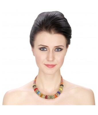 Aradhya Red Non Precious Metal Choker Necklace For Women