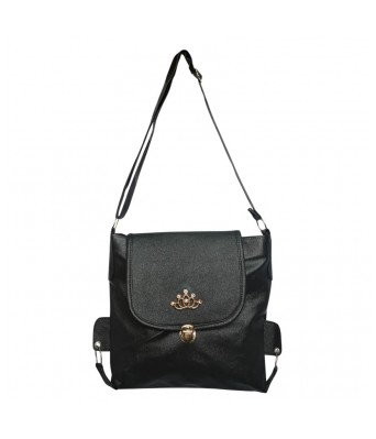 BUEVA Non Leather Stylish Sling Bag Black Color
