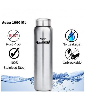 Milton Aqua-1000 Stainless Steel Water Bottle 930 ml Silver