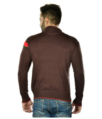 Branded Export Surplus Brown Cotton Long Sleeves Sweaters