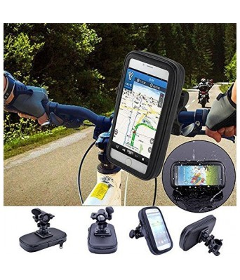 Touch-Friendly Mobile Mount for Motorcycle with Waterproof Case