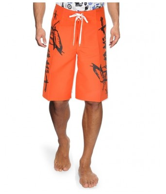 BILLABONG Orange Black  MEN  SHORTS