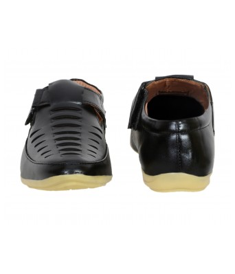 Shoes Kingdom Black Color Stylish Casual Sandals for Men & Boys