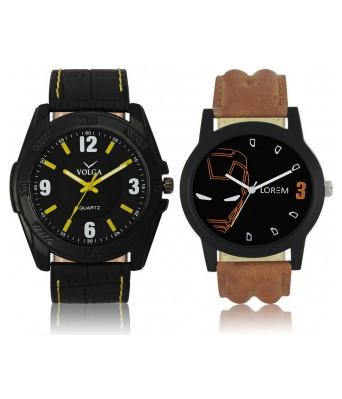 URANUS VL17LR04  New Branded Black-Brown Color Analog Combo Watch