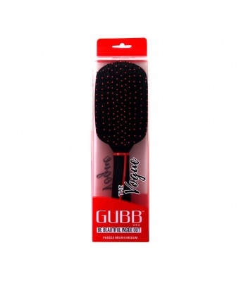 GUBB USA (Vogue Range) Straightener Paddle Hair Plastic Brush Medium, Black