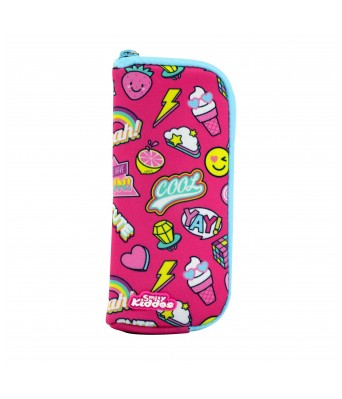 Smily Mini Pencil Pouch (Pink)