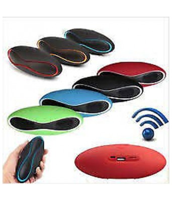 Sasta Bazar Mini-X6U Portable Wireless Bluetooth Rugby Style Mobile/Tablet Speaker Colour May Very