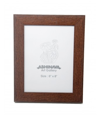 Abhinava Exclusive wall/table photo frame | 6 inch x 8 inch | Synthetic Brown | wooden
