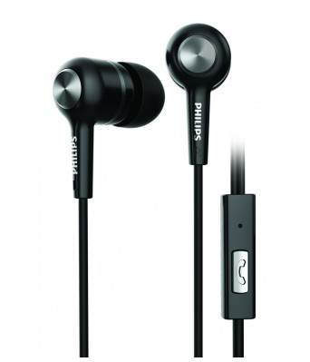Philips SHE1505BK/94 Upbeat Earphones with Mic (Black)