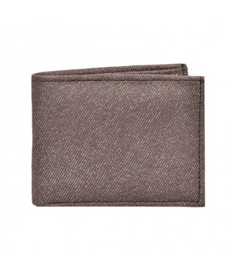 Cherryland Mens Dark Brown Denim Look Wallet