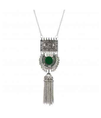 Aradhya Designer Antique Oxidized Silver Fancy Necklace Fashion Jewellery for Girls