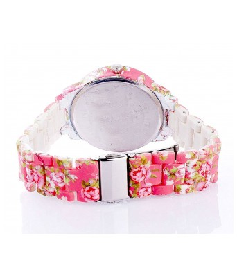 Pink Floral Dark watch for womens