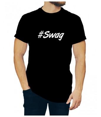 Black Color iLyk Round Neck Swag Stylish Printed Unisex T shirts