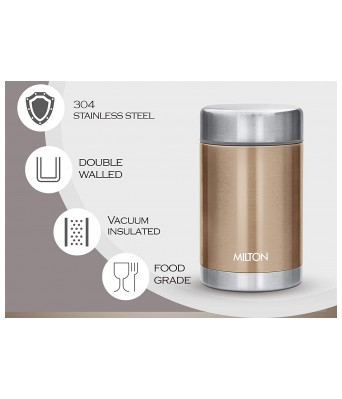 Milton Cruet 550 Thermosteel Hot and Cold Soup Flask, 515 ml, Brown