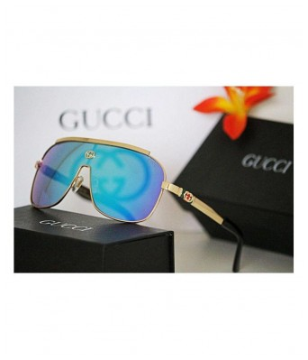 GUCCI EYEWEAR Blue Rectangle Sunglasses ( n22 )