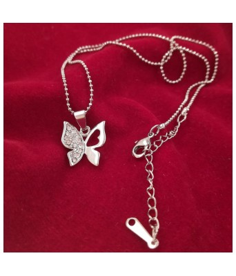 Saizen Sterling Silver Butterfly Pendant Necklace