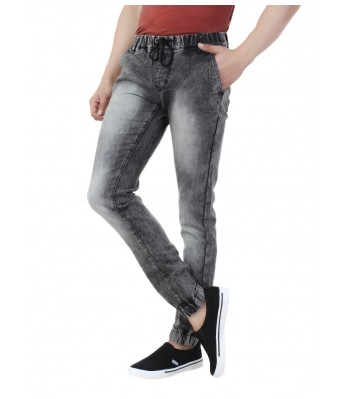 Ansh Fashion Wear Mens Denim Jogger - Regular Fit - Grey - Spray Monkey