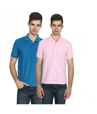 XEE Regular Fit High-Low Polo T-shirt (Pack Of 2)