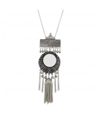 Aradhya Afghani Designer Turkish Style Oxidised German Silver Chandbali Necklace Pandent Jewellery for Girls & Women