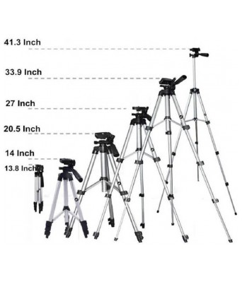 TIK-TOK 3110 Tripod Kit  (Silver, Supports Up to 3000 g)