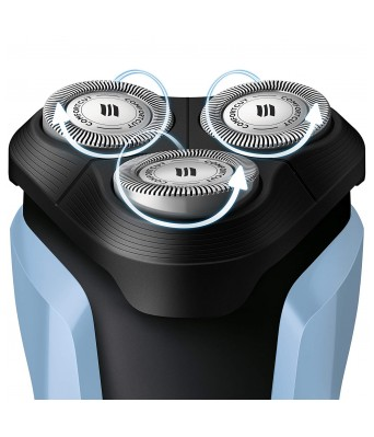 Philips S1070/04 Aquatouch Wet and Dry Electric Shaver (Blue and Black)